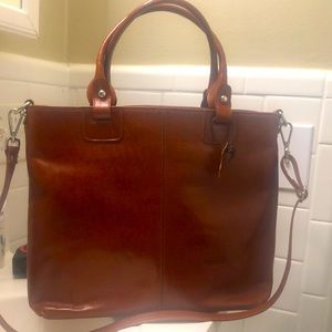 Valentina large leather Tote